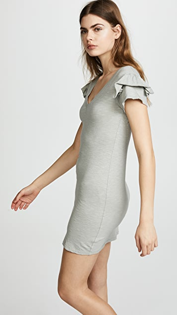 Pam & Gela Ruffle Sleeve Dress