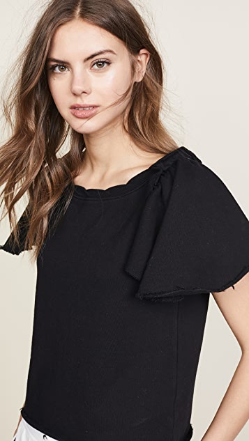 Pam & Gela Ruffle Sleeve Sweatshirt