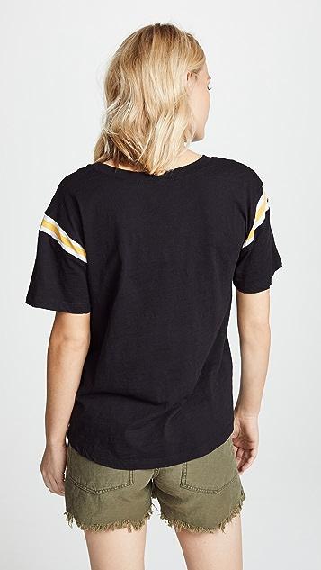 Pam & Gela Tee with Football Stripe