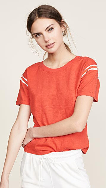 Pam & Gela Football Tee - Candy Red