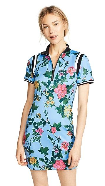 Pam & Gela Rib Trim Printed Dress