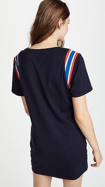 Pam & Gela Sport Stripe Inset Dress
