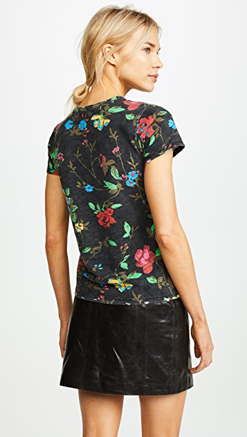 Pam & Gela Destroyed Floral Tee