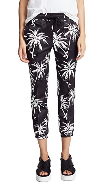 Pam & Gela Palm Tree Cropped Track Pants