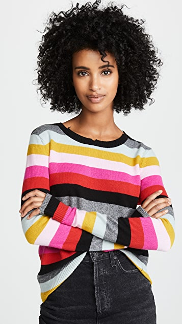672a1c475d Pam   Gela Multi Stripe Crew Neck Sweater