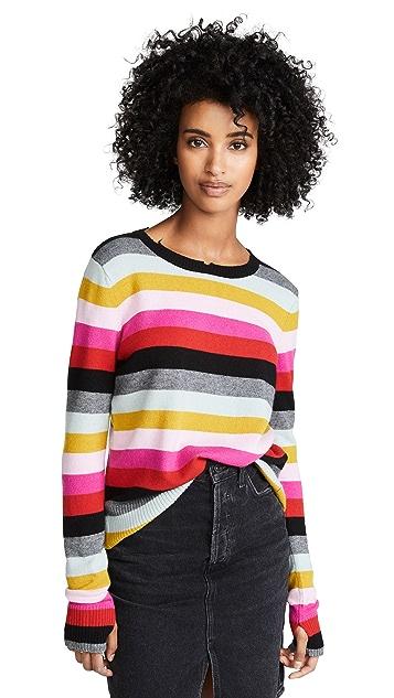Pam & Gela Multi Stripe Crew Neck Sweater