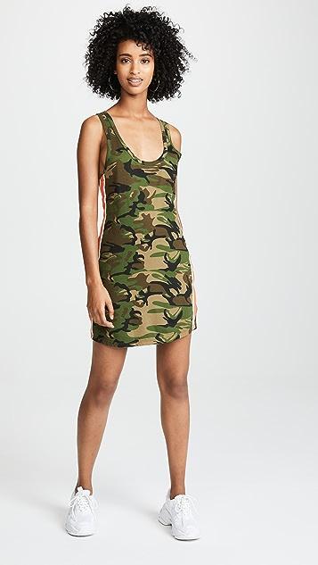 Pam & Gela Tank Dress With Side Stripes