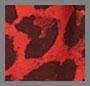 红色豹纹印花