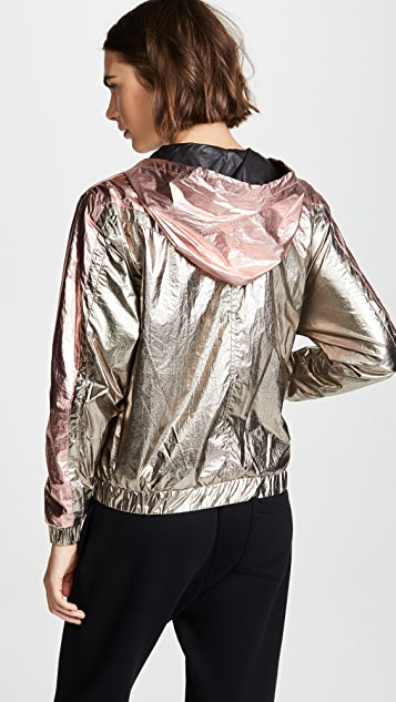 Pam & Gela Metallic Zip Hoodie