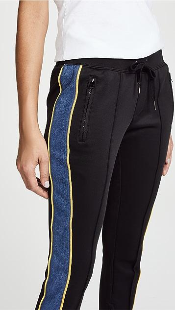 Pam & Gela Cigarette Track Pants with Denim Stripe