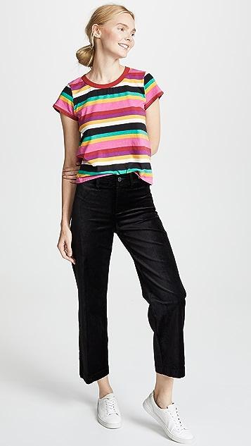 Pam & Gela Rainbow Stripe Crew