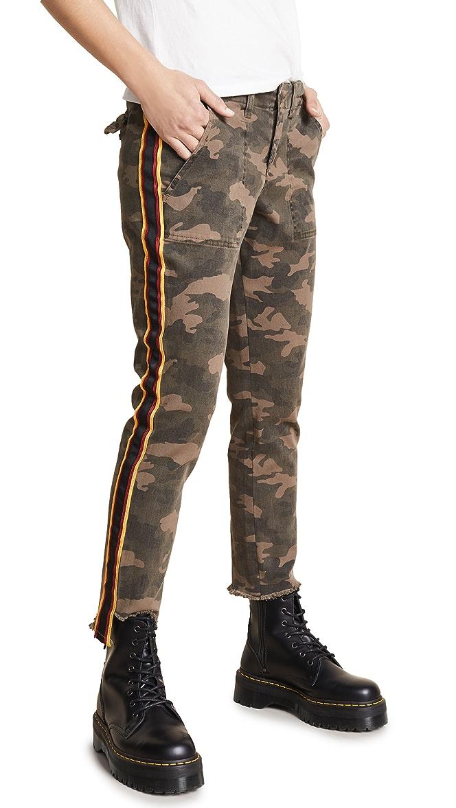 Side Stripe Camouflage Scoop Back Bodysuit