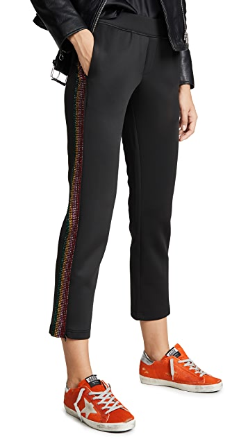 Pam & Gela Crop Track Pant with Stone Rainbow
