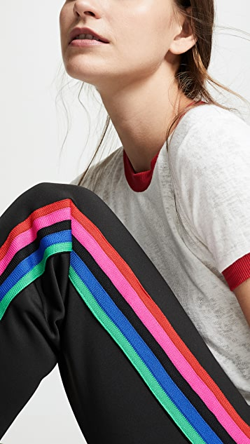 Pam & Gela Track Pants with Rainbow Stripes