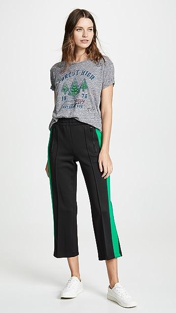 Pam & Gela Boyfriend Crop Pants with Side Stripe Tab