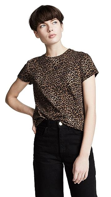 Pam & Gela Базовая футболка с округлым вырезом Mini Leopard