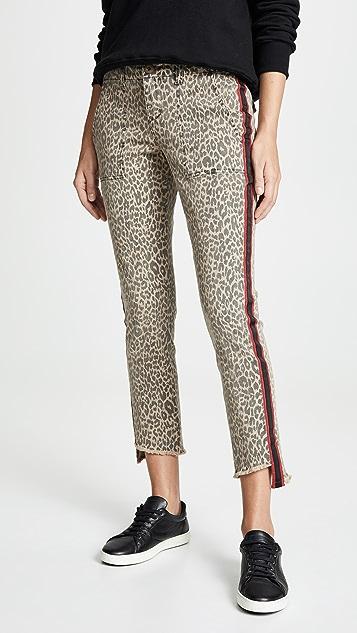 Pam & Gela Uniform Side Stripe Step Hem Jeans