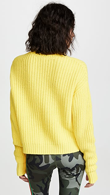 Pam & Gela Cropped High Low Sweater