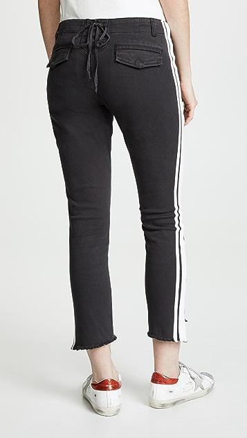 Pam & Gela Step Hem Pants with Double Stripe