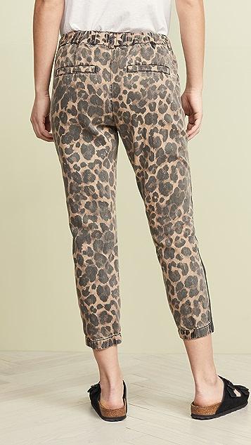 Pam & Gela Leopard Pants With Sash