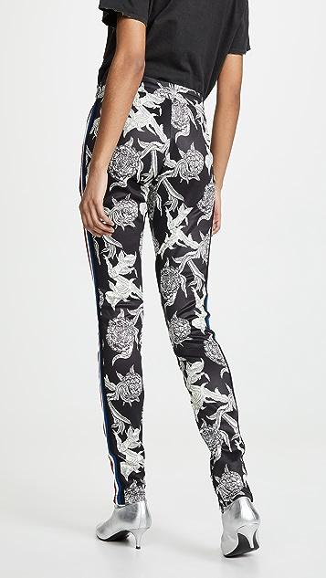 Pam & Gela Colorblock Floral Cigarette Pants