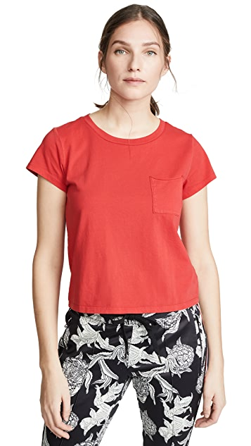 Pam & Gela Crop Pocket Crew Tee