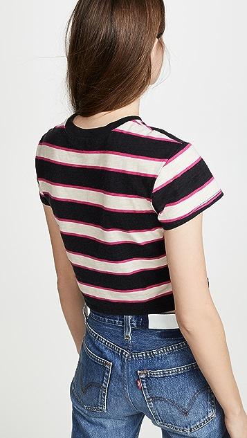 Pam & Gela Striped Crop Tee