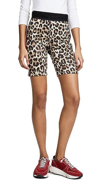 Pam & Gela Leopard Bike Shorts