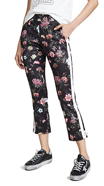 Pam & Gela Fineline Floral Crop Pants