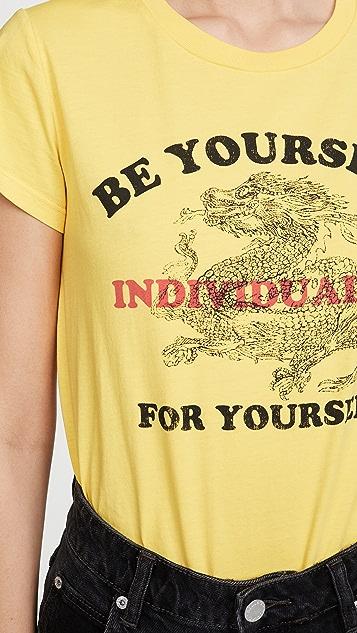 Pam & Gela Желтая укороченная футболка с логотипом