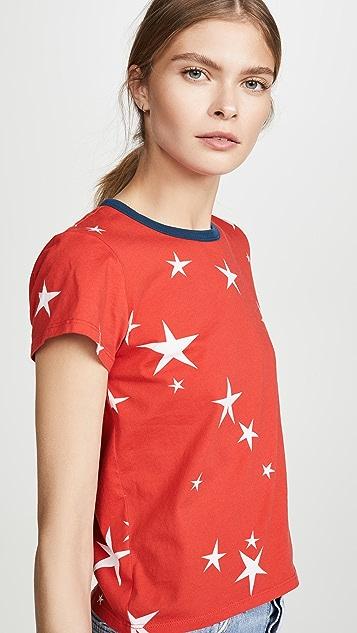 Pam & Gela 星星印花标志短款 T 恤