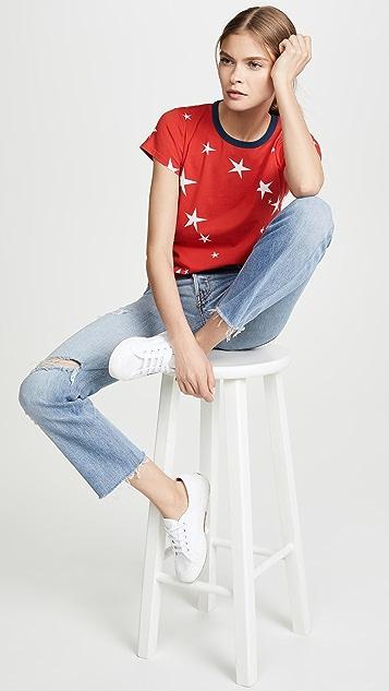 Pam & Gela Укороченная футболка с логотипом с принтом в виде звезд