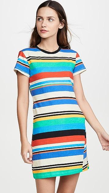 Pam & Gela 条纹印花 T 恤式连衣裙