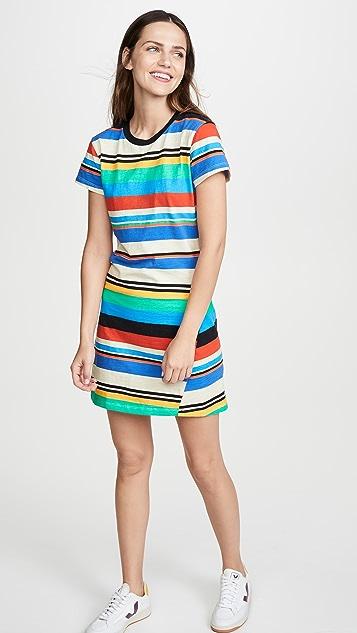 Pam & Gela Stripe Print T-Shirt Dress