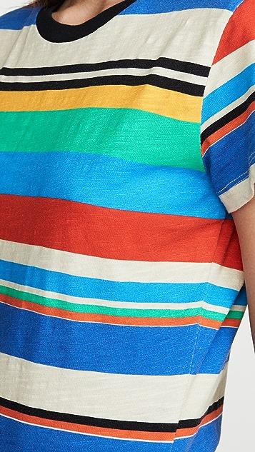 Pam & Gela Платье-футболка с принтом в полоску