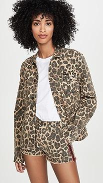 Leopard Army Shirt Jacket