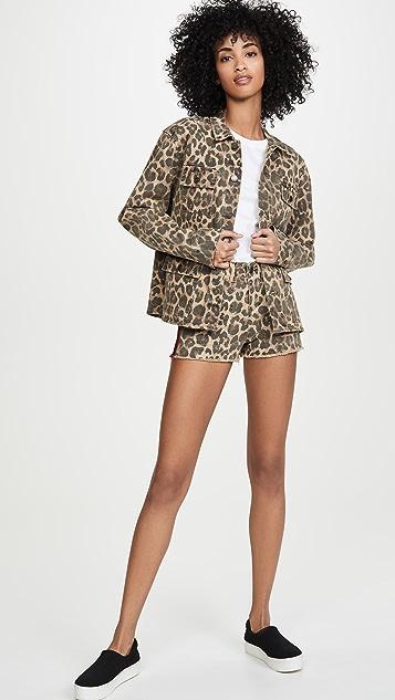 Pam & Gela Leopard Army Shirt Jacket