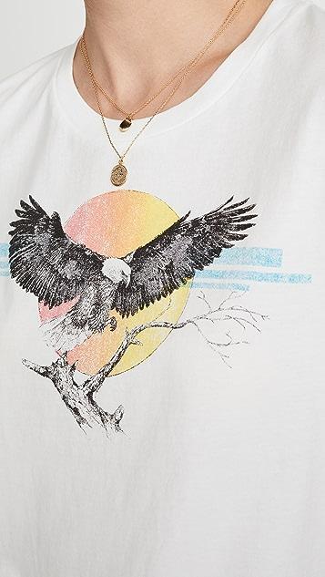 Pam & Gela 老鹰标志短款 T 恤