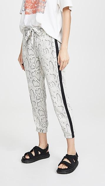 Pam & Gela 蛇纹印花系带裤子