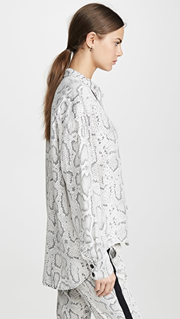 Pam & Gela 蛇纹印花衬衣