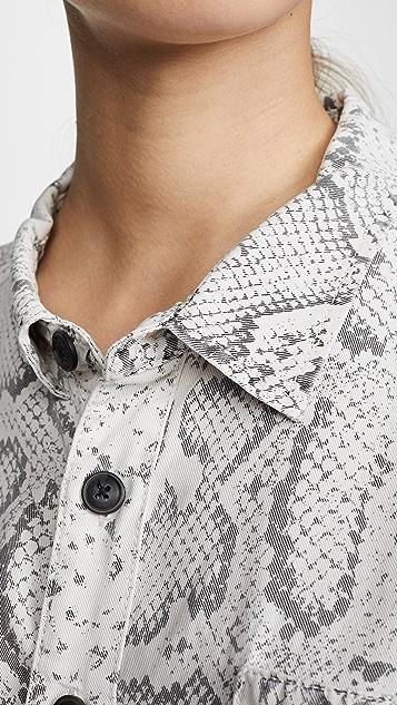 Pam & Gela Рубашка с принтом под змею