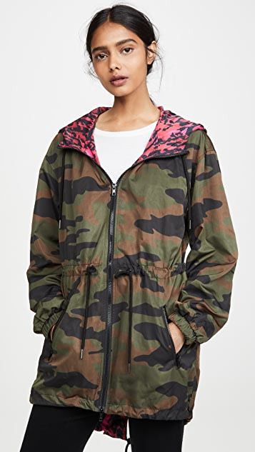 Pam & Gela Camo Reversible Hooded Jacket