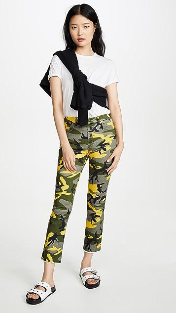 Pam & Gela 迷彩明中长款微喇裤