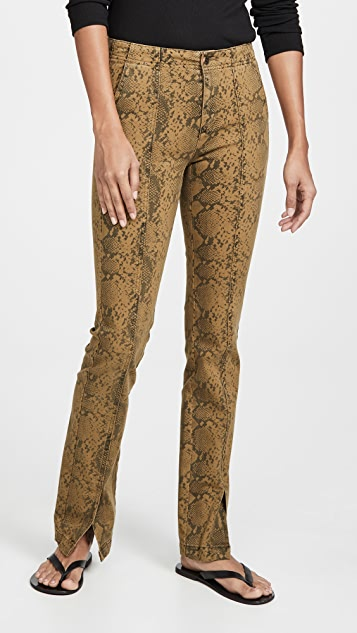 Pam & Gela Seamed Snake Baby Boot Cut Pants