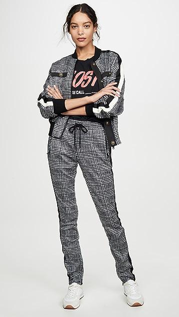 Pam & Gela 小格纹宽松束口夹克