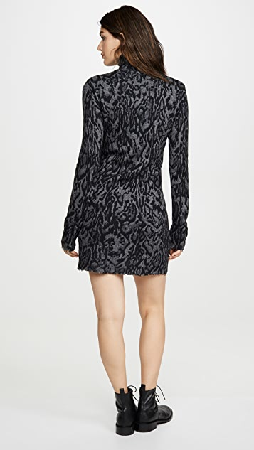 Pam & Gela Ocelot Mock Neck Dress