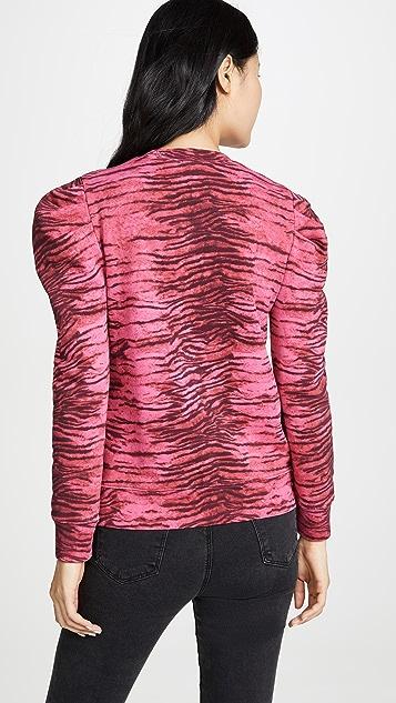 Pam & Gela 老虎泡泡袖运动衫