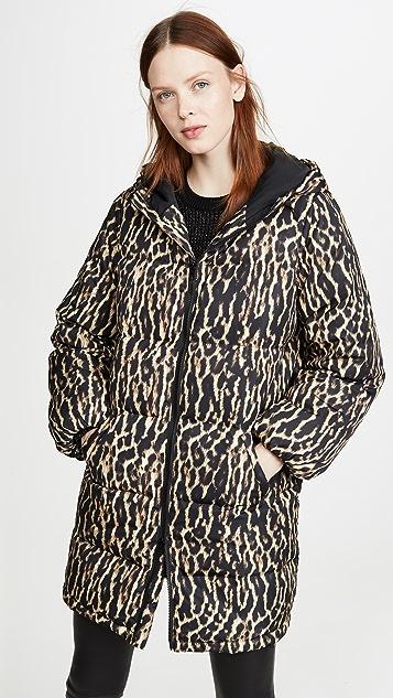 Pam & Gela 豹纹夹棉外套
