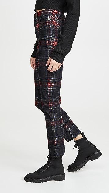 Pam & Gela 格子修身中长裤