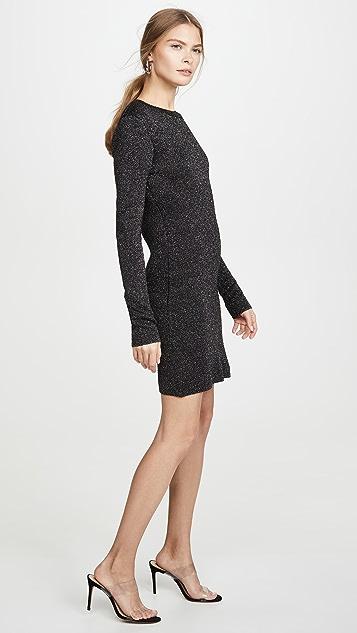 Pam & Gela Металлизированное платье с длинными рукавами